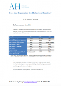 Resource checklist for assessing your organisational culture