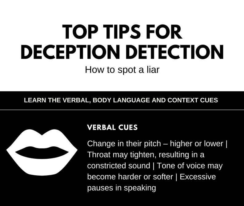 Handy tipsheet on how to spot a liar