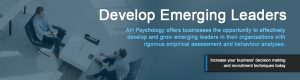 AH Psychology offers businesses the opportunity to effectively develop and grow emerging leaders in their organisations with rigorous empirical assessment and behaviour analyses. Increase your business' decision making and recruitment techniques today